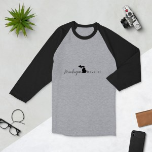 Michigan Travelist 3/4 sleeve raglan shirt