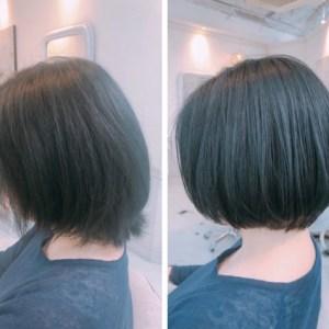 ショート ボブの広がる髪質 くせの悩みは内巻き縮毛矯正で解決!