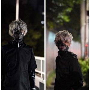 東京喰種の金木研(カネキケン)を本気でコスプレした渋谷ハロウィン