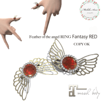 +M's Avon+Feather of the angel RING Fantasy RED