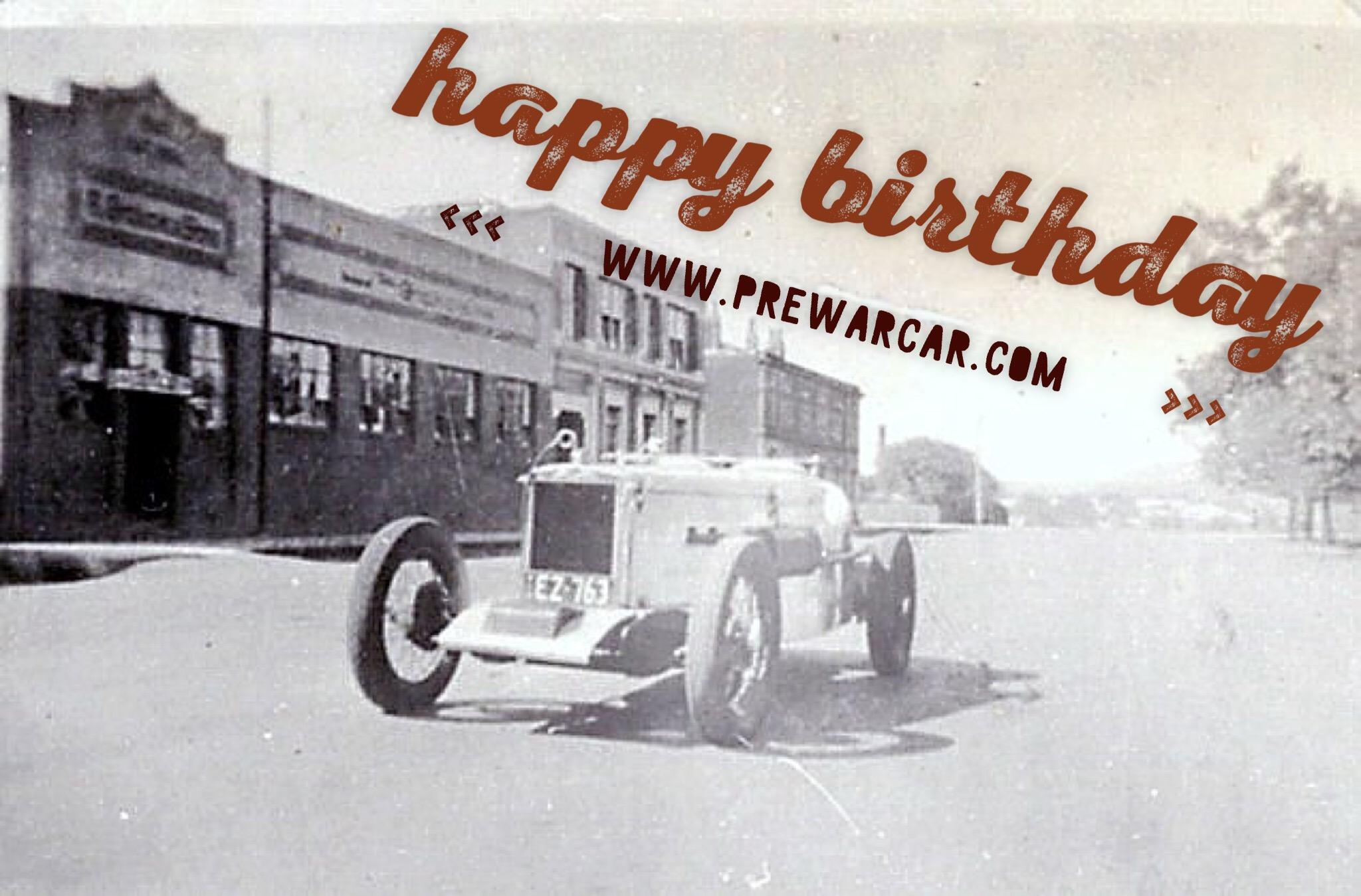 Happy Birthday Prewarcar Com Michis Oldtimer Blog