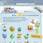 Trente emoticones offert par MSN UK