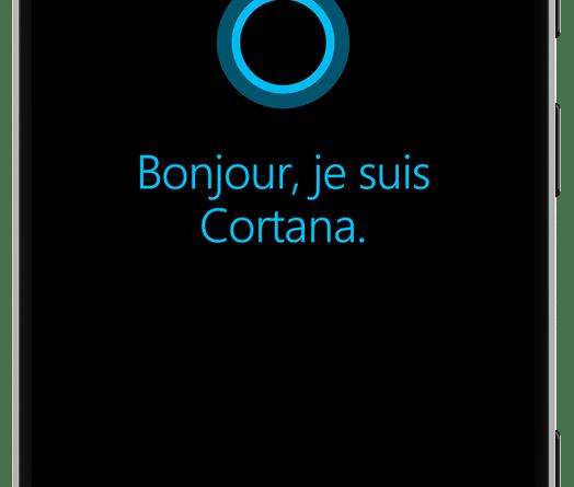 Premier lancement de Cortana