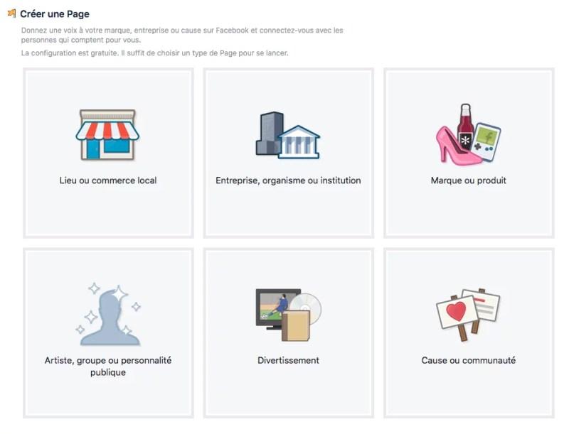 Facebook - créer une page