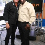 An after interview picture with Valentine Henderson - host of 'On Da Grine TV'