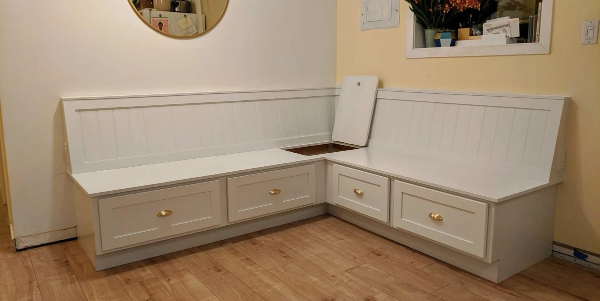 How to build banquette bench seating