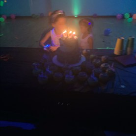 Sisters share birthday candles