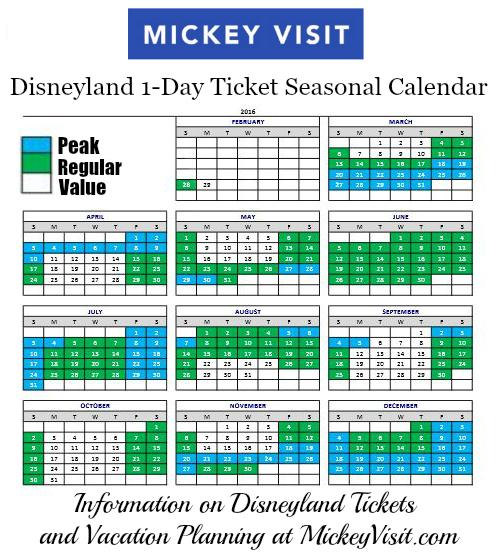 disneyland-ticket-pricing-calendar-2016