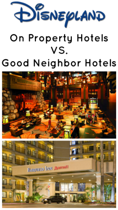 on property vs. off property hotels