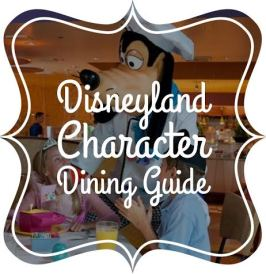 disneyland character breakfast dining guide