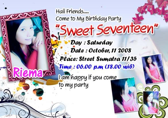 Kartu Undangan Ulang Tahun Sweet Seventen Jayadi 25