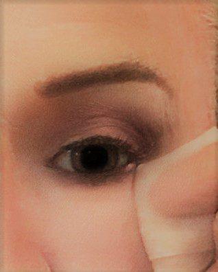 cleaning under eyes for crossdresser makeup