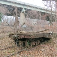 Abandoned Railcar at North End of Pencoyd Trail