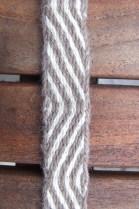 laine filée main, motif diagonales simples
