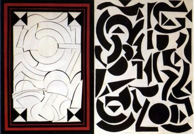 lucio-del-pezzo-rosebud-1965-collage-e-acrilici-su-legno-51x72-cm