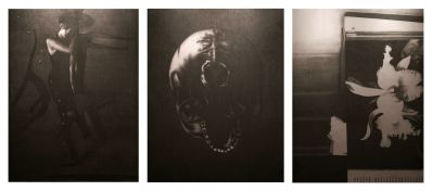 Omar Galliani, Breve storia del tempo, 1999, matita su tavola di pioppo, trittico, 300x600 cm_ph. Luca Trascinelli