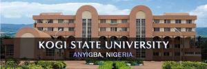 List of courses offered in Kogi State University Anyigba KSU