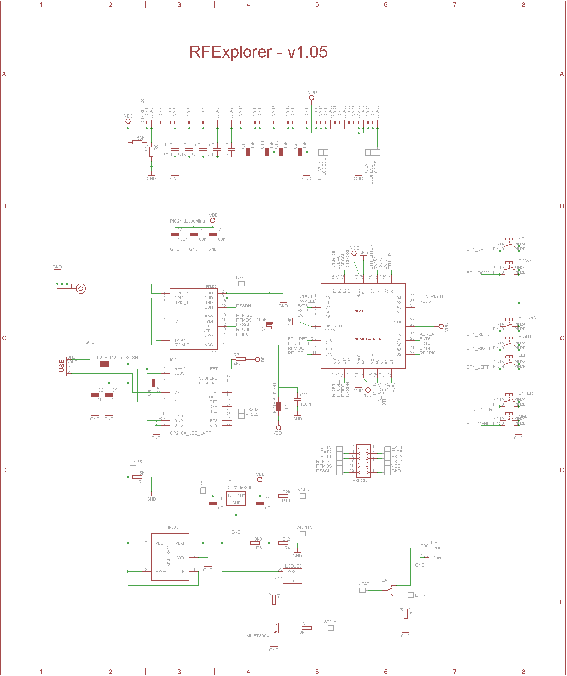 Rf Explorer Schematics