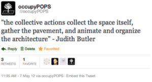@occupyPOPS – a twitter account that organizes weekly visits to Privately Owned Public Spaces in New York City and asks participants to add and verify data about these contested spaces | by Christo de Klerk
