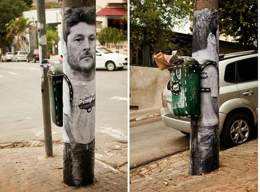 Trash Bins as Backpacks – a great way of dealing with litter.