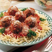 sphagetti and meat ball appearance