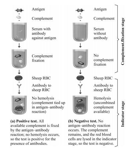 Controls should be used along with the test to ensure that (a)Antigen and serum are not anti complimentary (b)The appropriate amount of complement is used and (c) The sheep red blood cells do not undergo autolysis