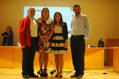 Daniela with her PhD supervisors
