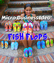 8 Year Old Madison Robertson with her Fish Flops (Photo Courtesy of Yahoo!)