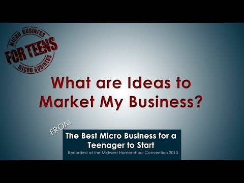 Video: What Are Ideas to Market My Business?