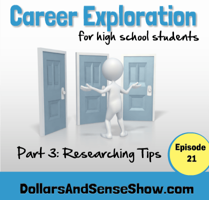 Career Exploration Part 3. Researching possible careers.