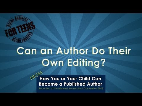 Video: Can an Author Do Their Own Editing?