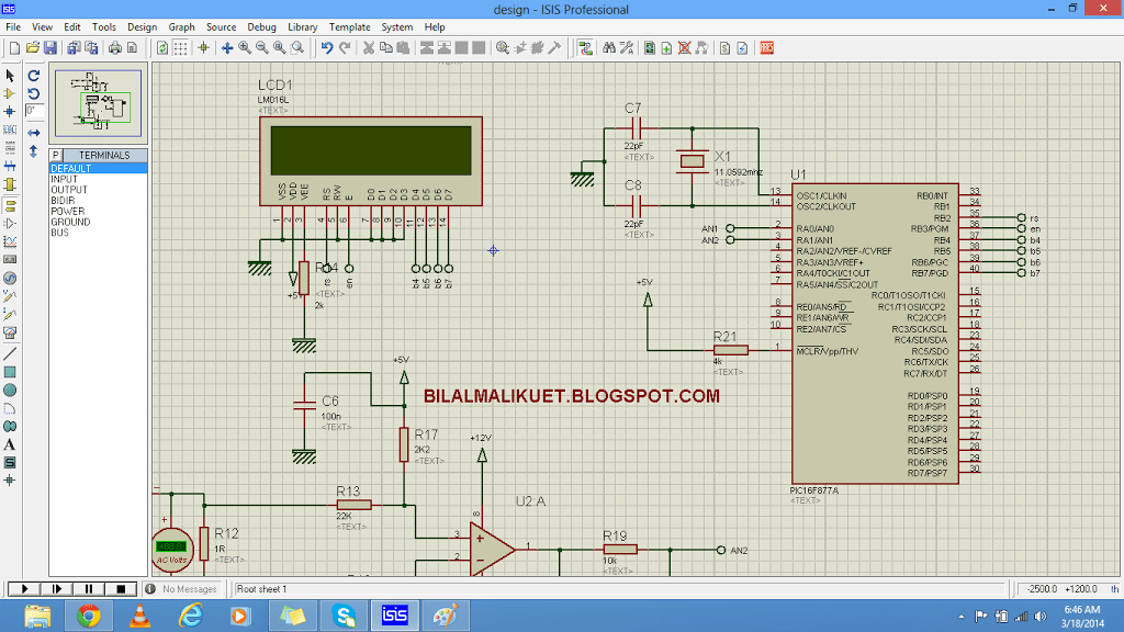 current measurement complete circuit using pic microcontroller
