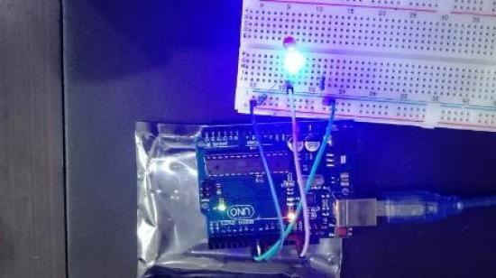 LED blinking using Arduino