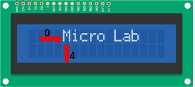 Scrolling text on LCD left scrolling example