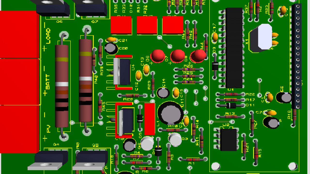 Smart solar charge controller using microcontroller