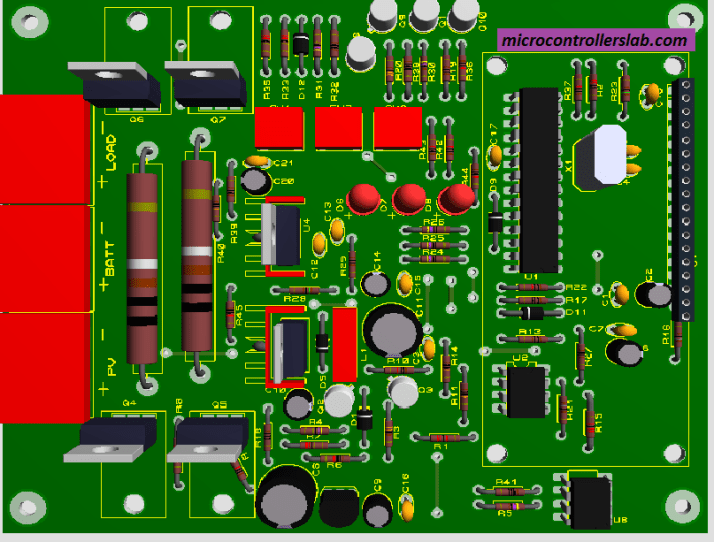 PCB design of smart solar charger controller using pic microcontroller