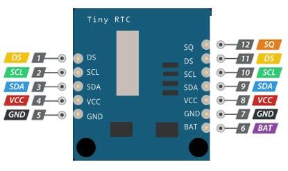 DS1307 RTC Module pinout