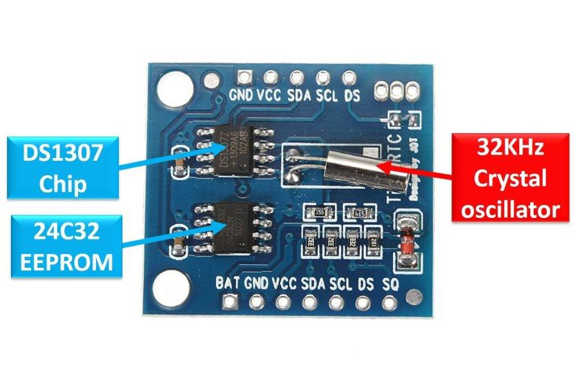 DS1307 RTC module components