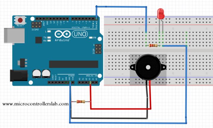piezoelectric sensor interfacing with Arduino Uno R3