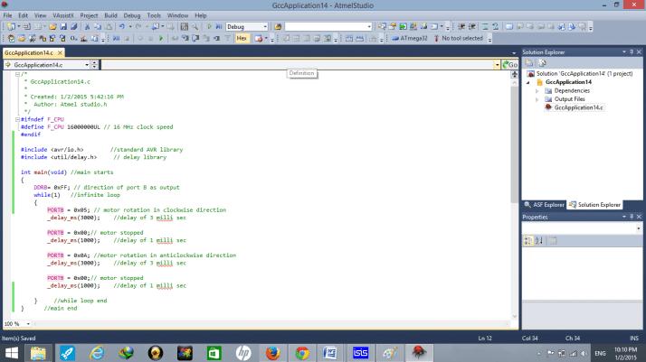 dc motor code
