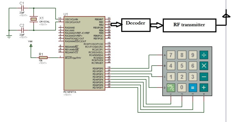 metal detector robot transmitter using pic microcontroller