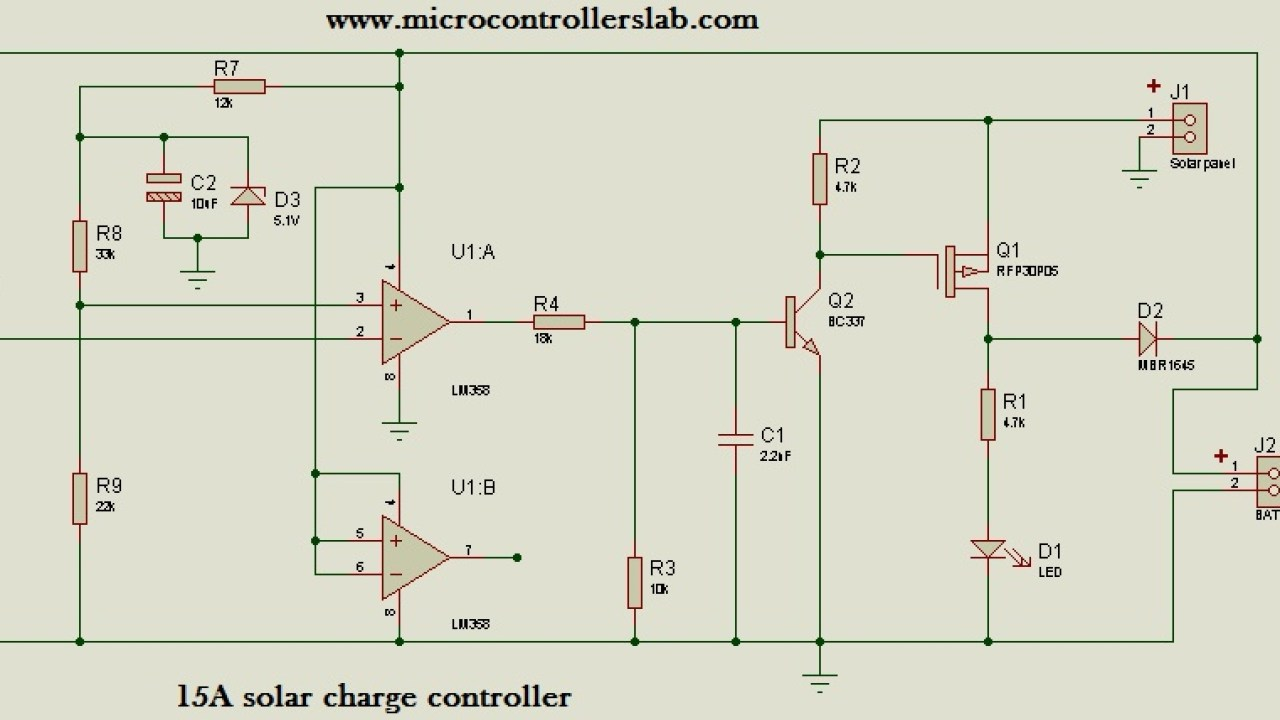 15 Ampere solar charge controller without microcontroller