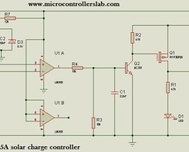 Solar Charge Controller Circuit Diagram | 15 Ampere Solar Charge Controller Without Microcontroller