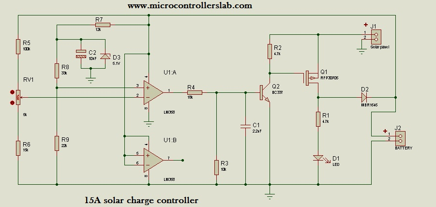 Cool 15 Ampere Solar Charge Controller Without Microcontroller Wiring Database Ittabxeroyuccorg