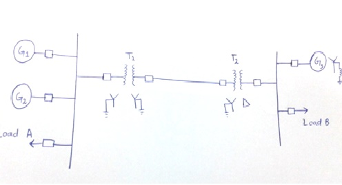 one line diagram of power system