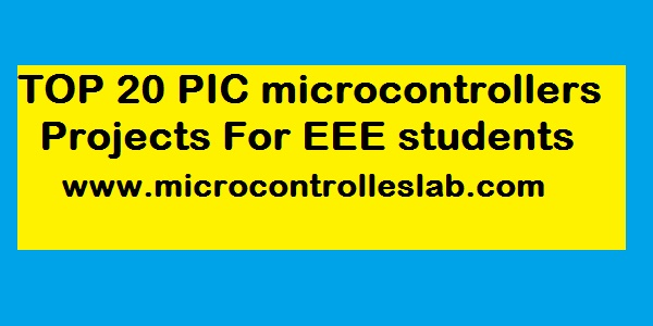 100+ Pic microcontroller projects with source codes