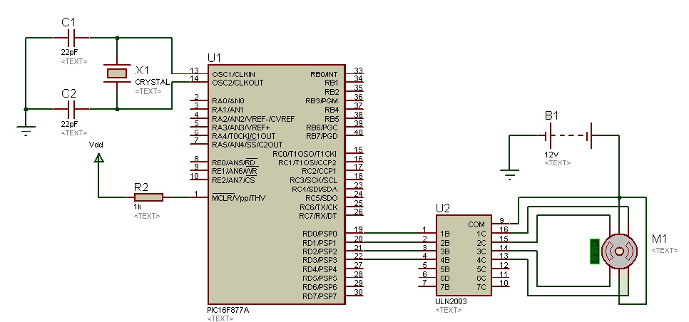 Stepper Motor Interfacing With Pic Microcontroller on Stepper Motor Driver Circuit Diagram