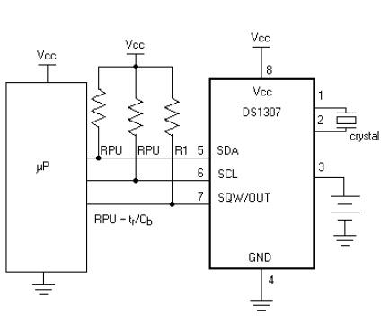 Digital clock ds1307 interfacing with microcontroller