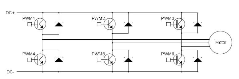 Three phase H bridge