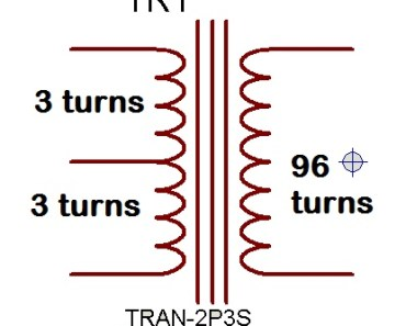 Ferrite Transformer Turns Calculation